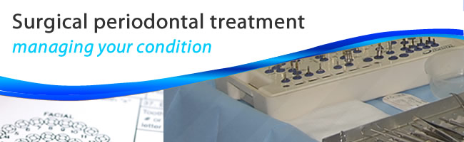 surgical treatments cure periodontal pockets